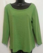 Land's End Woman's Medium Green Long Sleeve Blouse