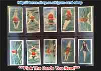 ☆ Ogden's Swimming, Diving and Life Saving 1931 (VG) *Pick The Cards You Need*