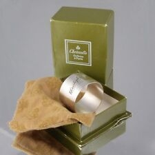 """Vintage French Christofle Silver Plate Napkin Ring, Engraved """"Christophe"""", Box"""