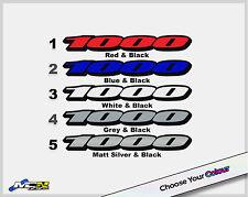Suzuki GSXR 1000 Sticker Decal Logo For Rear Panels GSXR 1000 K7 K8 x2