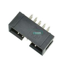 10PCS 2.54mm 10 Pin Straight Male Shrouded header IDC Socket 2x5 Pin Double Row