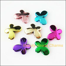 12Pcs Mixed Plastic Acrylic UV Animal Butterfly Charms Spacer Beads 13x17mm