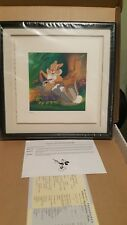 "Framed Disney Treasures Bambi ""Twitterpated"" Serigraph Etching COA & Box"