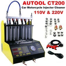 Autool CT200 Gasoline Vehicle Motorcycle Ultrason Fuel Injector Cleaner Tester