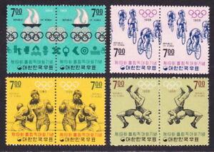 SOUTH KOREA 1968 MEXICO OLYMPICS FULL SET OF 4 PAIRS SG760-767 MINT NEVER HINGED