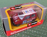 Burago Bburago cod. 4138 -- Fiat Cinquecento Rally 1:43 OVP Box Made in Italy
