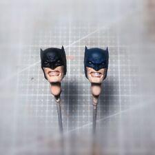 "Painted 1/12 Scale Batman Head Sculpt fit 6"" Figure One:12 Black Dark Navy Blue"