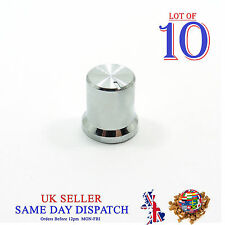 10x Knob for Potentiometer Plastic Cap 14.8mm Silver