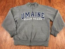 Maine Black Bears Jansport Small Full Zip Heather Gray Sweatshirt w/ Pockets