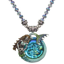 KIRKS FOLLY MARINA MERMAID  SEAVIEW WATER MOON MAGNETIC NECKLACE  Aqua / ST