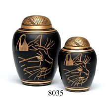 8035G Tierurne, Katzenurne, Urne für Katzen aus Messing -  ca. 2,2 Liter