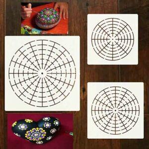 6Pcs Mandala Dotting Tools to Painting Rocks Pen Dotting Brush Paint Stencil New