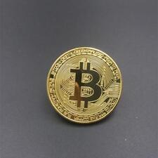 Collectible Golden Bitcoin Commemorative Plated coin Christmas friend novel gift