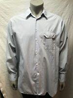 Giorgio Armani  Le Collezioni- Light Blue/White Check Button Down Shirt- 17/43