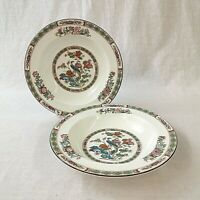 Wedgwood Kutani Crane Pair of Rimmed Soup Bowls R4464 Perfect