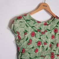 Beautiful Seasalt Briarfield Green Pink Dress Size UK 12 Good Condition