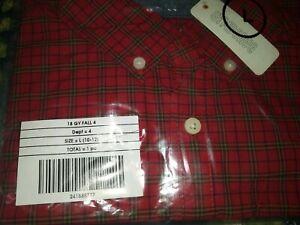 NEW nwt Gymboree boys size L 10-12 long sleeve dress shirt red holiday plaid