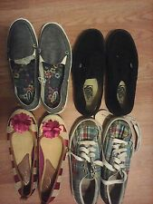 ladies medium size 7 vans, polo, dr scholls lot 4 pair fast shipping