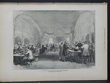 Illustrated London News Full Page B&W S6#66 Jan 1879 Head-Quarters Mess at Dakka