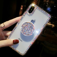 New Luxury Bling Diamond Airbag Stand Phone Case Cover for iPhone XS Max XR S10+