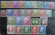 GERMANY (West) 1954 Complete Year Set 27 Used