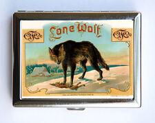 Lone Wolf Cigarette Case Wallet Business Card Holder