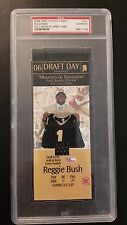 Reggie Bush PSA 2006 Draft Day Photo Ticket Jersey Seatch # 5/999 Saints USC