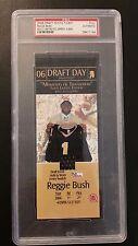 Reggie Bush PSA 2006 Draft Day Photo Ticket Jersey Seatch # 5/999 Saints USC