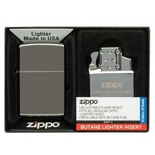 ZIPPO Black Ice Lighter 150 With Adjustable Butane Single Torch Insert 49103 NEW