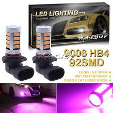 2x 92SMD 9006 HB4 Pink Purple LED Fog Light Bulbs for Dodge RAM 1500 2500 3500