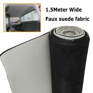 2.4M x 1.5M Replace Vehicle Interior Ceiling Roof Lining Faux Suede Fabric Foam