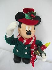 "CHRISTMAS MICKEY MOUSE  SANTA'S BEST 11"" FIGURE HOOKS UP TO LIGHTS"
