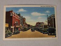 Vintage Postcard - Main Street Waterville Maine ME Antique Cars Buildings #743