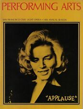 "Lauren Bacall ""APPLAUSE"" Lee Roy Reams / Charles Strouse 1972 San Francisco"