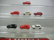 AF123-0, 5 #7x Wiking H0 Car / MODEL VOLKSWAGEN VW Golf, MINT