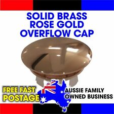 OVERFLOW BASIN SINK CAP COVER 24KT ROSE GOLD