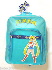 NEW    *SAILOR MOON*   BLUE   BACKPACK  TRANSLUCENT VYNIL 13 IN. X 11 IN.