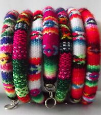 12 Manta Inka Bracelets. Woven Wool Blanket. Handmade in Cuzco - Peru