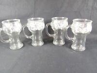 Vintage PEPSI COLA Glass Mugs with Handle - 16 oz. Set of 4