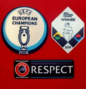 UEFA EURO 2020 Winner Patch Set  Nations League Patch Set for Portugal Jerseys