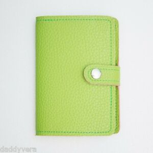 GREEN TEA GIFT PASSPORT HOLDER TRAVEL ACC COVER CASE BAG LEATHER WALLET TICKET