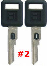 2 NEW GM Single Sided VATS Ignition Key #2 UNCUT V.A.T.S B62-P2 - MADE IN USA