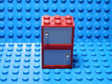 LEGO LEGOS  -  Set  of  2 NEW RED Cupboard with Light Bluish GRAY Door 2x3x2