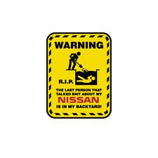 Warning RIP Stickers Nissan Decal Patrol Pathfinder Juke Cool