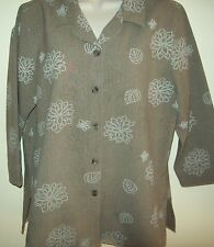 Black Pepper by Breakaway shirt/blouse Size 14, polyester