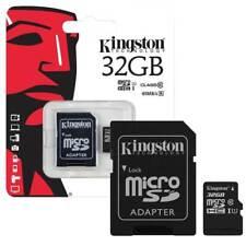 Kingston 32GB 32 Gb Micro Sd Sdhc Classe 10 Cartão De Memória Com Adaptador Para Samsung