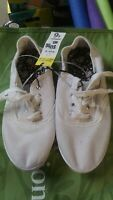 Womens White Cotton Canvas LaceUp Casual Tennis Shoes/Beach/Garden/Vacation(E21)