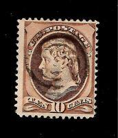 US 1870 Sc# 150 10 c  Thomas Jefferson Used - Light Cancel - Crisp Color