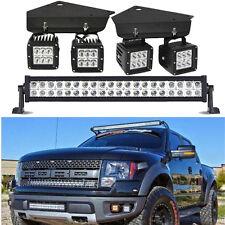 """Fog Light Kit  3X3 spot pods cube + 20""""inch LED Bar Ford F150 SVT Raptor truck"""