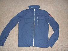 Hollister Men's Jacket (Solana) Bleu Taille M Zippé Imperméable